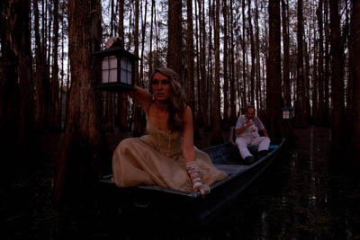 The swamp scene and models are too dark without the flashes.