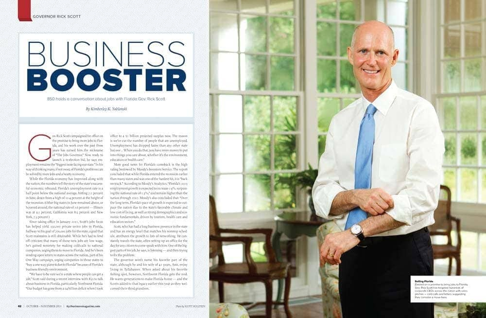 Portrait photography of Florida Governor Rick Scott in the Governor's Mansion in Tallahassee.