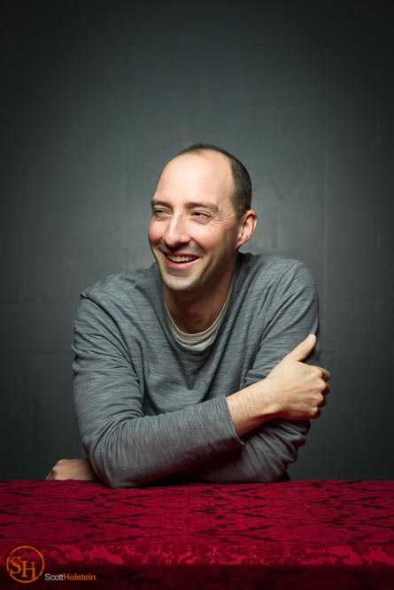Celebrity portrait of actor Tony Hale laughing by Tallahassee photographer Scott Holstein.